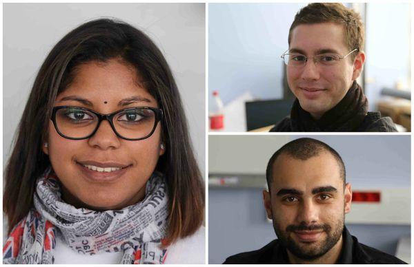 Floriane Fontaine, Benjamin Bosserelle et Vincent Lorion, étudiants à l'ESIEA
