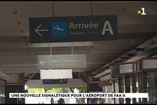 Une signalétique nouvelle pour l'aéroport