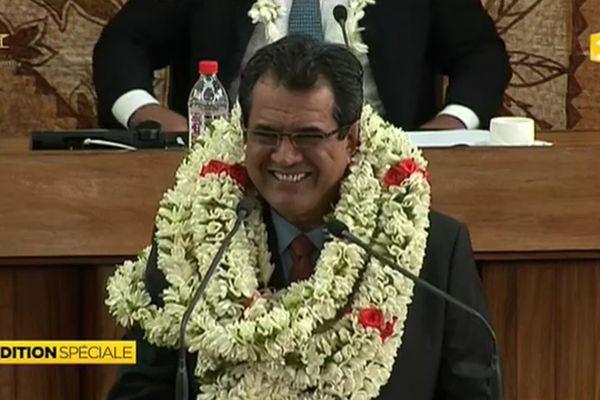 Edouard Fricth, élu Président de la Polynésie française