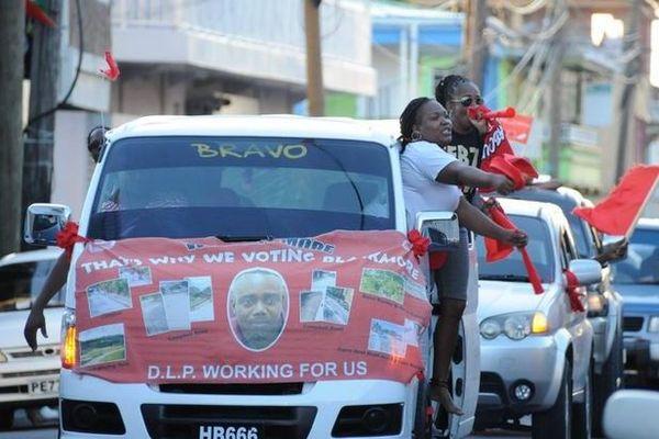 Dominica cortège electoral