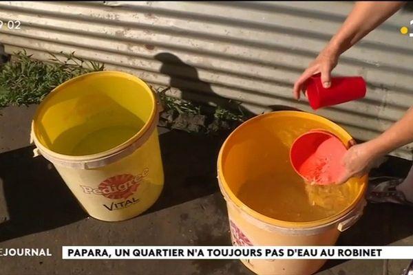 A Papara, la distribution d'eau ne coule pas de source