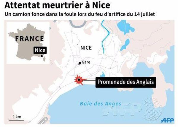 Carte attentat nice