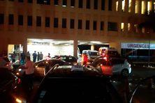 Soutien des taxis au personnel soignant du CHUM (19/10/2021).