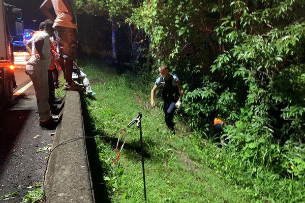 La victime de l'accident de Christophe/Goyave a été retrouvée sur le bas-côté de la RN1, ce samedi.