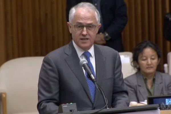 Aus. Turnbull à l'ONU.