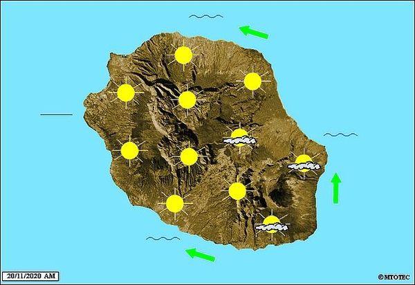 Carte météo 20 nov 2020