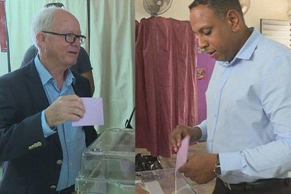 Législative partielle 7ème circonscription vote 2nd tour Jean-Luc Poudroux et Pierrick Robert 300918