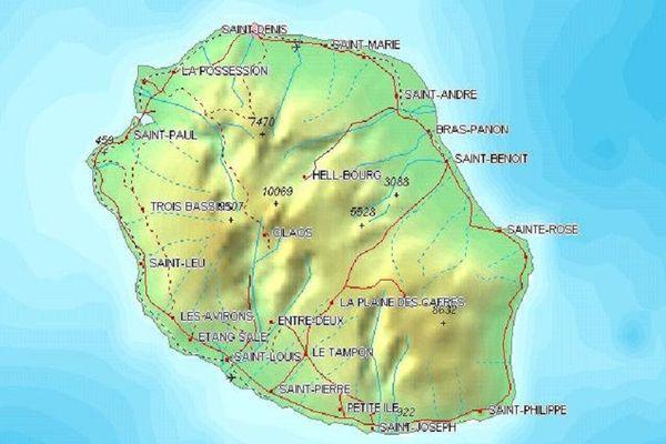 Ile de La Réunion carte