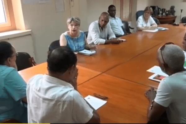 Rencontre maire Saint-Laurent et agents Siguy