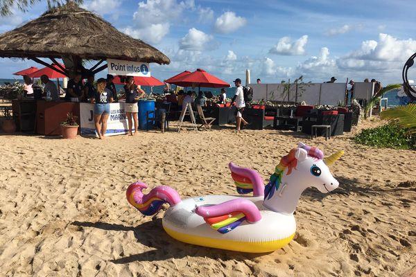 Journée mondiale de l'océan / des océans, île aux Canards, 6 juin 2021, bouée licorne