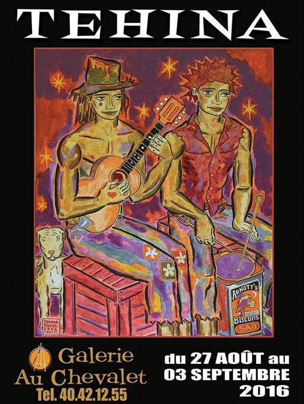 Affiche de l'exposition de Tehina à la galerie Au chevalet