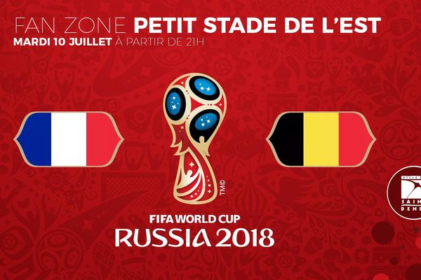 Affiche France-Belgique Saint-Denis