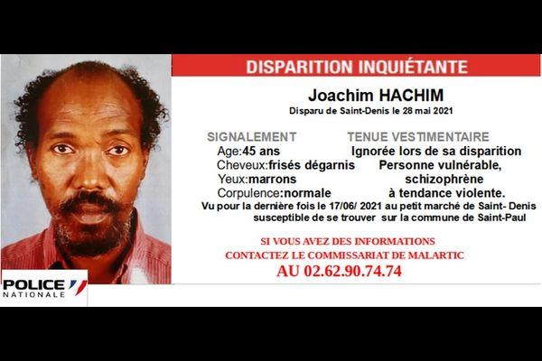 disparition inquiétante Joachim Hachim Saint-Denis 280621