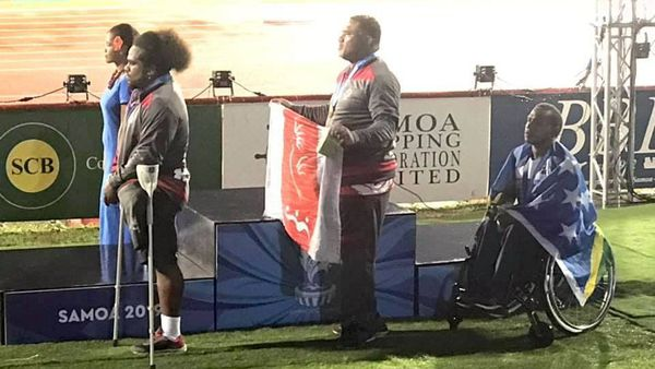 Samoa 2019, podium du poids handisport