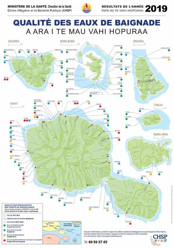 carte des eaux de baignades