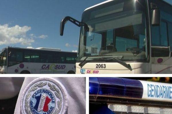 Bus Carsud au terminal Desmazures de Nouméa (3 mars 2018)