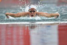 Lara Grangeon lors de la finale du 200 mètres papillon vendredi 18 juin 2021 à Chartres.