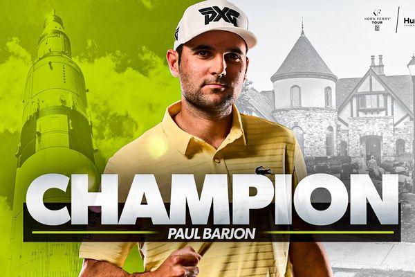 Paul Barjon, vainqueur de son premier tournoi sur le Korn Ferry Tour.