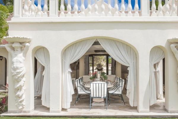 Terrasse du château des palmiers