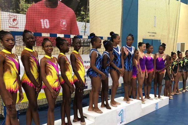La délégations de jeunes gymnastes de l'Association Amazonie Guyane de Gymnastique