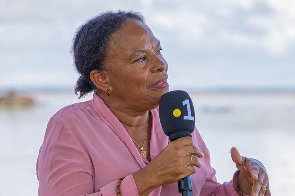 Christiane Taubira le 6 juin sur la place des Chaînes brisées à Cayenne