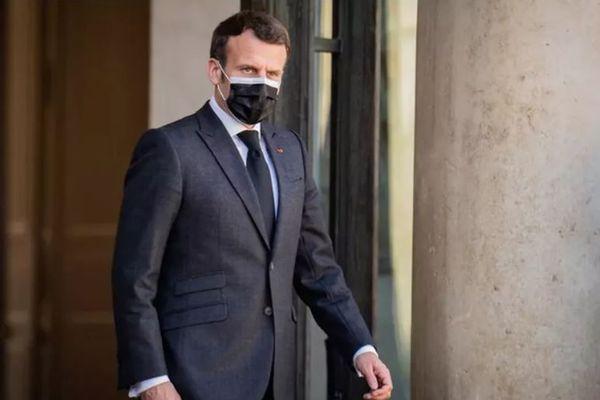 Emmanuel Macron, à l'Elysée,