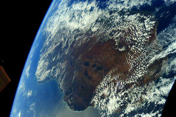 Madagascar vue de l'espace par Thomas Pesquet