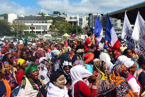 Manifestation mardi à Mayotte