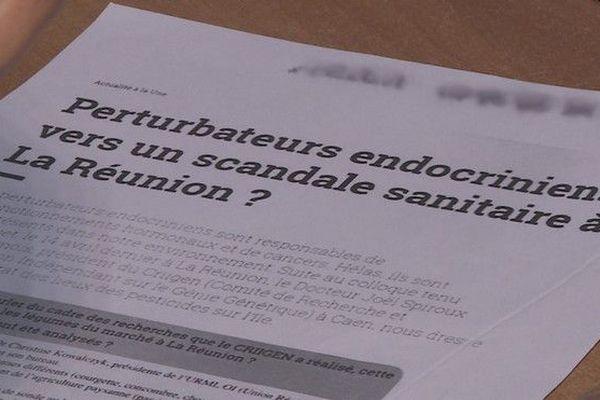 Perturbateurs endocriniens pesticides produits péi