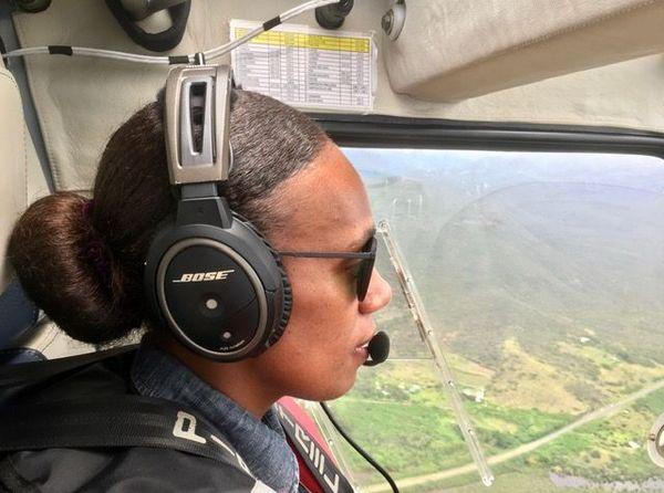 Rosy Goromara, pilote d'ULM, janvier 2021