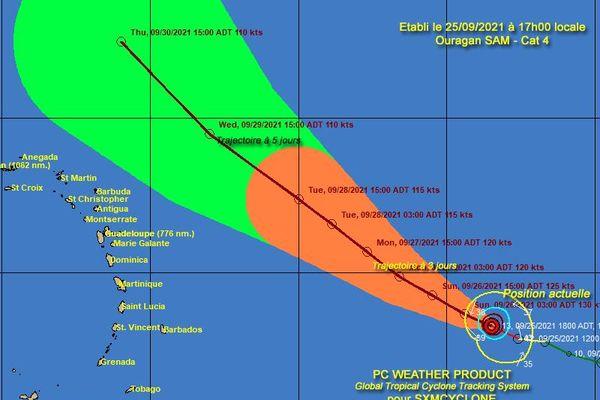 Sam ouragan majeur