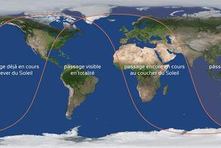 La visibilité du Transit de Mercure ce lundi 11 novembre 2019