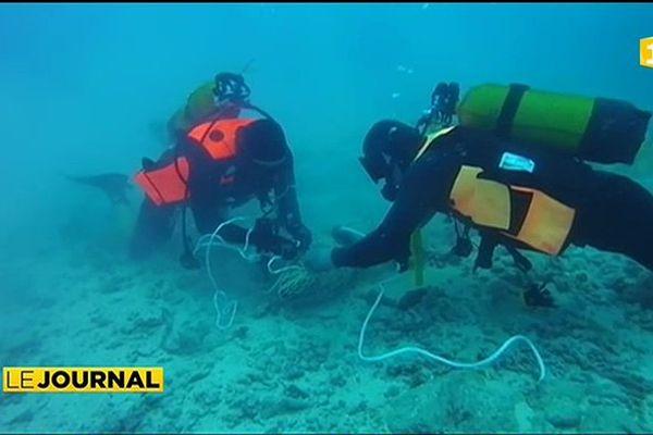 Neutralisation d'obus dans la passe de Bora Bora