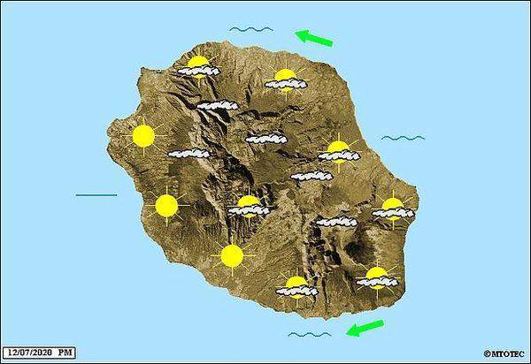 Carte météo 13 juillet 2020