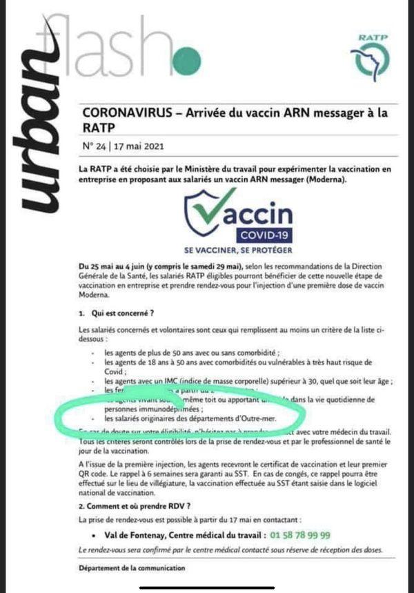 Communiqué RATP