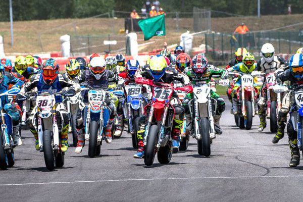 Championnats de France aux internationaux de France de Supermotard 2018.