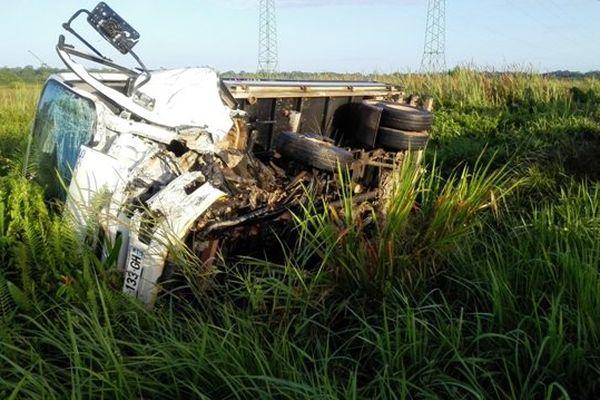 Accident route de Kourou 14-08-14