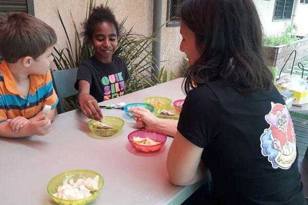 Atelier santé dans l'assiette, enfants, Maison de la famille, 28 septembre 2019