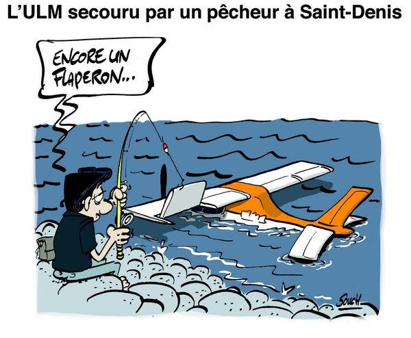 Le dessin de Souch : ULM Pêcheur