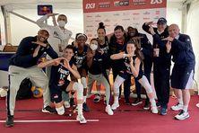 La joie dans le camp tricolore (Soana Lucet est au centre) après la qualification