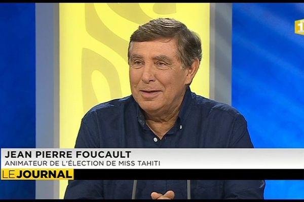 Jean Pierre Foucault, chef d'orchestre de Miss Tahiti