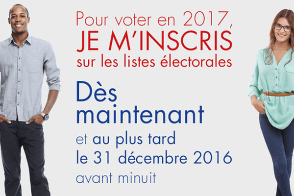 Dernière limite pour s'inscrire sur les listes électorales le 31 décembre