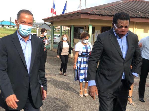 Visite au lycée Félix Eboué