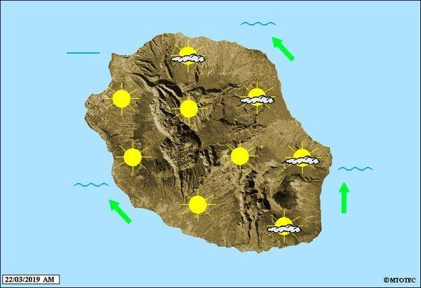 Carte météo du 22 mars 2019