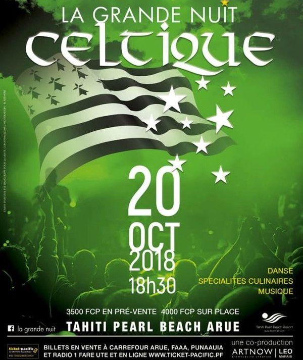 Nuit celtique le 20 octobre