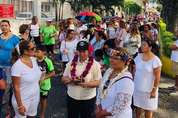 Marche contre la violence en polynésie