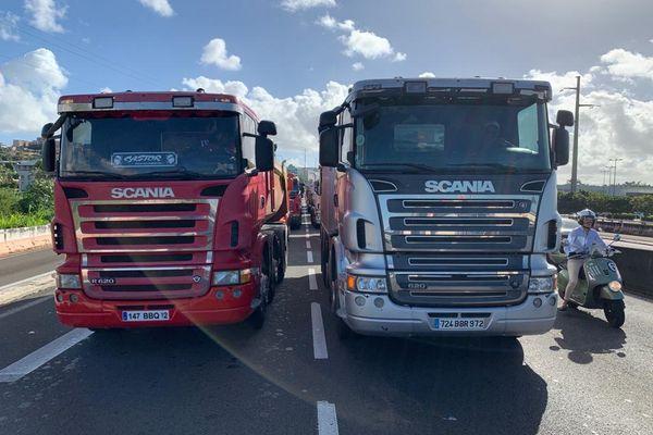 Camions sur les routes