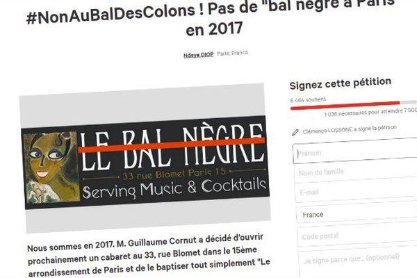 petition bal negre