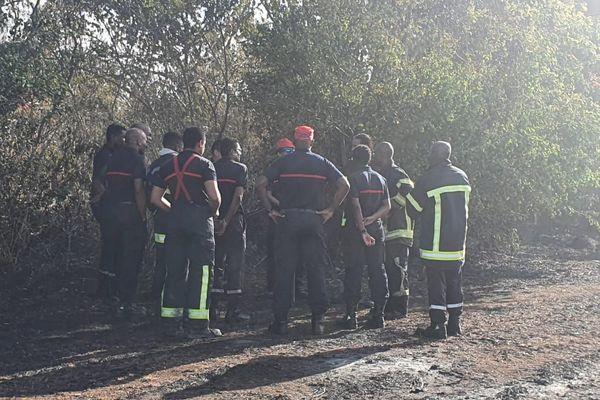 L'équipe d'incendie et de secours