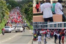 Défilé des soignants en direction de l'Agence Régionale de Santé pour dire non à la vaccination obligatoire (juillet 2021).